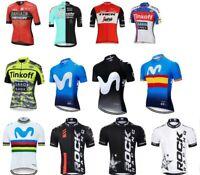 Pro Team Men Cycling Jersey Bike Short Sleeve Shirts Trek Movistar