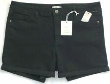 Size 16 NEW LAUREN CONRAD Women's Denim Black Cuffed Stretch 3.5 Inseam Shorts