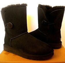 UGG Australia Bailey Button Boots~ Black Suede US 7/ 38 /(Fits US 8) New #5803
