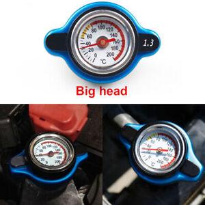 For Racing Thermostatic Gauge Radiator Cap 1.3 bar Big Head Water Temp Meter