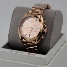 NEW AUTHENTIC MICHAEL KORS BRADSHAW ROSE GOLD CHRONOGRAPH WOMEN'S MK5503 WATCH