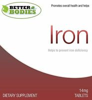 Iron 14mg TABLETS Mineral Health Supplement SAD Relief Trusted Brand Made In UK