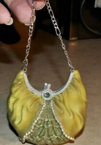 Unsigned Fashion Purse Hand Bag Resin Figurine Collectible