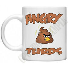 Angry Turds Birds Inspired Apps Poo Rude Disgusting Funny Gaming Gamers Mug Cup