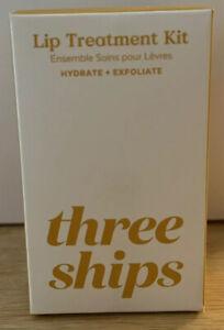 Three Ships Lip Treatment Kit Vanilla Exfoliator & Buttercream Lip Mask NEW NIB