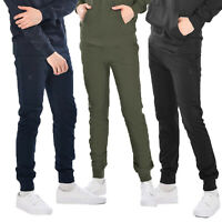 Soulstar Mens Classic Plain Skinny Slim Style Jogging Pants Sports Active Gym