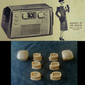 1939 30s CHEVROLET GM ACCESSORIES FULL SET OF PUSH BUTTONS FOR 7 & 5 TUBE RADIOS