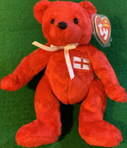 """TY Beanie Baby 2005 """"GEORGE"""" Pot-Belly Teddy Bear ENGLAND Exclusive MWMT #46059"""