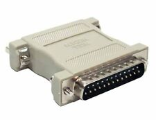DB25 Male/Female Null Modem Adapter (Beige)