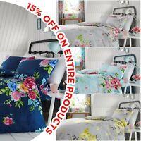 Luxury Cotton Print Design Duvet Set Quilt Cover Bedding Single Double King Size