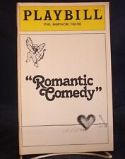 Play Bill Romantic Comedy the Ethel Barrymore Theatre Anthony Perkins, Mia Farro