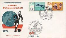 FDC Duitsland - WK Voetbal 1974 - Blanco / Open klep