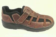 DR COMFORT Betty Velcro Brown Diabetic Walking Leather Shoes  US 5.5 EU 36