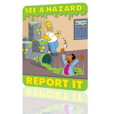 """METAL TIN SIGN The Simpsons """"See a Hazard"""" Security Collection 4 Decor Wall Art"""