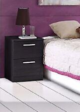 Havnyt Bronte 2 Drawer Bedside Cabinet, Bedside Table, Black