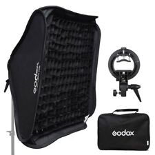 Godox 80x80cm Honeycomb Grid Softbox + S-Type Flash Bracket Bowens Mount Kit