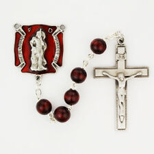 Firefighters Rosary with St. Florian Medal, Prayer Card, and Gift Box