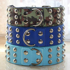 2 inch New Styles PU Leather Mushroom Studded Dog Collars Pit Bully Pet Collars