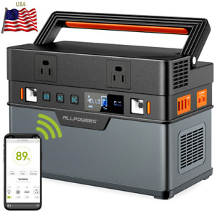 ⚡300Wh Solar Generator 100500mAh Portable Power Station Emergency Supply 372Wh