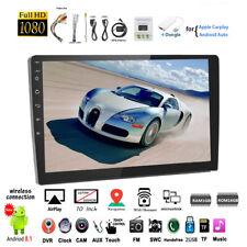 10''2 Din Android GPS Car Radio Carplay+Airplay Touch Screen Wifi Siri FM iOS BT