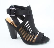 Women's Open Toe Chucky High Heel Ankle Buckle Bootie Sandal Size 5.5 - 11 NEW