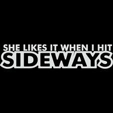 HIT IT SIDEWAYS DRIFTING WINDOW STICKER SUPRA 240SX VINYL DECAL ILLEST JDM #048