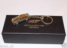 OFFICIAL SKYFALL ASTON MARTIN DB5 SILVER METAL KEYRING JAMES BOND 007 BNIB NEW