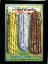 POSTCARD REPRODUCTION OF OLD AD FOR PIONEER SEED COMPANY- OSCAR H. WILL COMPANY