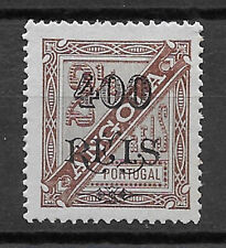 ANGOLA , PORTUGAL ,1902,  400r ON 21/2r STAMP , PERF , USED