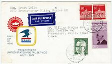 30 Pf Olympia MiF Luftpost USA Bremerhaven Horn Bad Meinberg Air Mail (A1184)