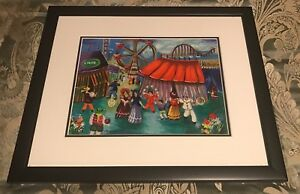 Reduced 1/2 Price Clearance Shlomo Alter Serigraph At The Circus