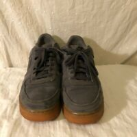 Nike Mens Airforce 1 Lv8 Sneakers Gray AQ0117-881 Lace Up Low Top Gum 9.5 M