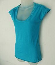 ABERCROMBIE and FITCH Teal Green Cotton Blend Tee T Shirt Top Women Size L