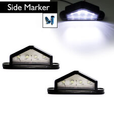 2 x Rear Number Plate Light 4 LED License Indicator For Most Truck Trailer Lorry