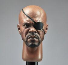 Custom Samuel Jackson 1/6 Head Sculpt for Hot Toys Nick Fury Body