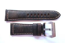 Leather strap band 26mm for Panerai --- Brown Pelle Cinturino 26 mm