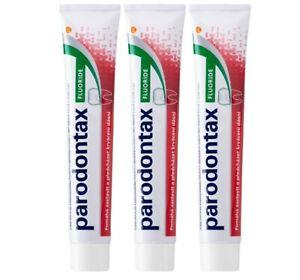 Parodontax Fluoride reduces bleeding gums Anti Bleeding Toothpaste 3x 75 ml