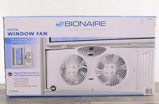Bionaire Twin Window Fan Programmable Digital Thermostat Reversible Blade Remote