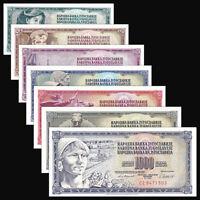 Yugoslavia set 7 PCS, 5 10 20 50 100 500 1000 Dinara,1991, Banknotes, UNC