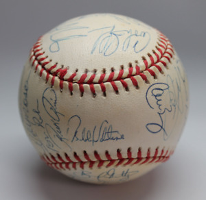 1997 New York Mets team signed autographed baseball! AMCo LOA!