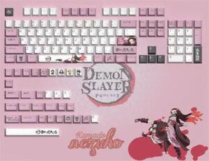 Demon Slayer Nezuko 134 Keys Cherry PBT Keycap Pink Set For Mechanical Keyboard