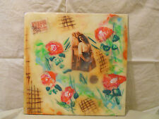 Vintage Abstract Encaustic Bees Wax Art Small Painting