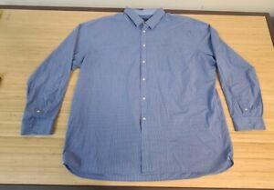 Van Heusen Men's Blue Dress Shirt Short Sleeve XXL 18-18 1/2