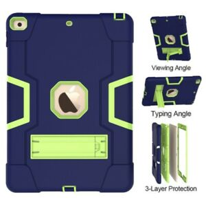 Shockproof Hybrid Heavy Duty Armor Stand Case Cover For iPad Mini 1/2/3/4/5