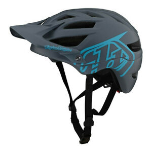 TLD Troy Lee Designs A1 Drone Gray Blue Mountain Bike Helmet Bicycle XC