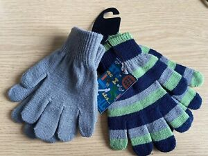 MARKS AND SPENCER CHILDRENS/KIDSHIGH QUALITY GLOVES TWO PAIRS IN BUNDLE FREE P&P