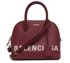 New $2150 Balenciaga Ville Duffle Top Handle Red Leather Messenger Bag