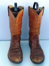 Mens' UNBRANDED BROWN LEATHER COWBOY WESTERN BOOTS SIZE  10