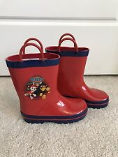 Paw Patrol Toddler Rain Boots New Size 9 / 10 Shoes Red