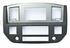 SLATE GREY Black Silver Aftermarket Radio Double Din Dash Kit Fits Dodge Ram
